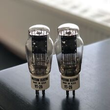 VT25 10Y WESTERN ELECTRIC CERAMIC BASED NOS PAIR VALVE/TUBE (LC74)