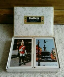 Vintage 'London' Playing Cards double deck in box by Piatnik *SEALED CARDS*