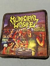 """Municipal Waste Art of Partying Sublimated Patch 3""""x3"""" Album Cover Rock Metal"""