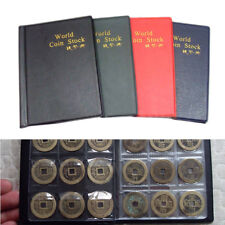 Coin Collecting Starter Kit 120 Coins Collection Storage Case Leather Album Book