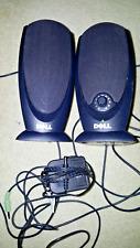 Dell A215 Black Multimedia 2 Channel Computer Speakers W/ Adj Volume Knob