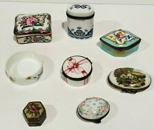 Lot Of 8 Vintage ~ Limoges France Peint Main~ Trinket Boxes Assorted