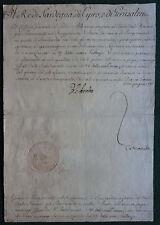 King Victor Amadeus III Sardinia Cyprus Jerusalem Signed Military Document 1786