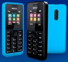 UK Nokia 105 - Black/Blue (Unlocked) Mobile Phone Cheap Basic Sim Free Genuine