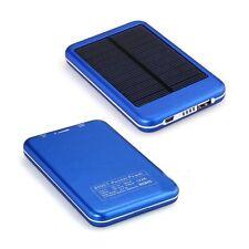 5000 mAh SOLAR-ZUSATZ AKKU PACK POWER BANK LADEGERÄT HANDY TABLET SMARTPHONE NEU