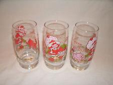 Vintage Strawberry Shortcake Drinking Glasses ~ Set of 3