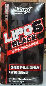 Nutrex Lipo 6 Ultra Concentrate 60 Cap Fat Burner New