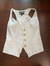 NWT bebe White Racerback Juniors Women's Vest Top Size XXS $119