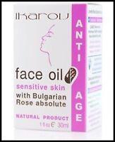 IKAROV Face Oil Sensitive Skin With Bulgarian Rose Anti - Age 100% Natural 30ml