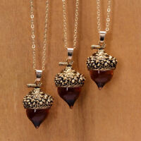 Pine Nuts Pendant Necklace Water Drop Shape Choker Jewelry Party Accessories JA