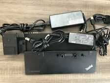 Lenovo Thinkpad Ultra Dock 40A2 W/ 4.5A and 2.25A Power Supplies