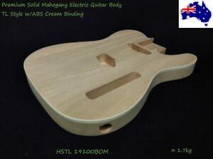 Electric Guitar DIY Body, Solid Mahogany w/Cream Binding  HSTL 19100BOM