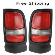 Tail Lamp Lens and Housing Set of 2 LH & RH Side Fits Dodge Ram 1500 Ram 2500