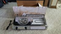 NEW OPEN BOX Vintage CAPITOL Compact Take-A-Long Electric Burner Range/Broiler