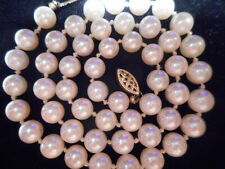 "14K Yellow Gold 6.5mm Akoya Salt Water White Pearl 17"" Necklace Choker AA Fine"