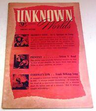 Unknown Worlds – UK Pulp – Summer 1949 – Vol.4 No.4 - de Camp, Bond, Long