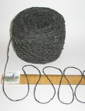 100g 100% pure double knitting wool yarn dk Dark Grey Oily Tweed Read carefully