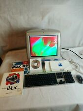 Vintage Apple iMac M5521 Indigo Blue Computer TESTED with Keyboard and Mouse