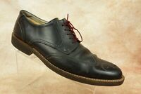 Ecco Black Leather Wingtip Oxford Derby Casual Dress Shoes Mens 47EUR 13/13.5US