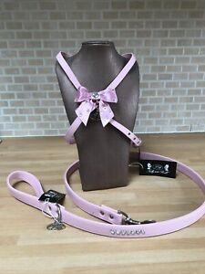 Trilly Brilli  Baby Pink Harness & Lead set with Swarovski studs