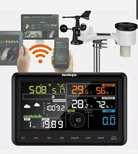 Profi WLAN Wetterstation WiFi Internet Funk + Außensensor Windmesser Regenmesser
