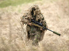 Hunting Military Army Ghillie Suit 80*90cm Burlap Desert Camo Netting