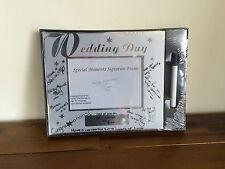 Wedding Day Signature Photo Frame/Engagement Gift Sil