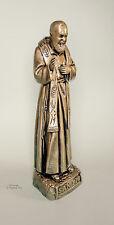 Statua di Padre Pio  40cm, resina, effetto bronzato