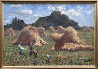 Impressionist Hansa Rostock Painter Gustav Kühn 1872 - 1949 Kornhocken IN