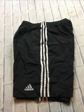 90s VTG ADIDAS WINDBREAKER SHORTS L Nylon Swishy EQT Black White Running OG