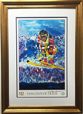 "LeRoy Neiman ""Vancouver Skier - USA Olympic Team"" FRAMED HAND SIGNED Lithograph"