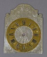 altes ZIFFERBLATT Uhrenschild Uhrenzifferblatt f Uhrwerk Eisenuhr Wanduhr Uhr