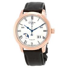 Glashutte Senator Silver Dial Automatic Mens Perpetual Calendar Watch