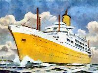 ART PRINT POSTER TRAVEL INDIA AUSTRALIA CRUISE SHIP LINER OCEAN GULL NOFL1326