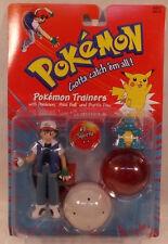 "Pokemon Trainers 5"" Ash Figure With Squirtle Poke Ball & Battle Disc Hasbro MOC"