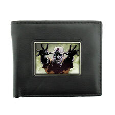 Black Bifold Leather Material Wallet the 3rd Zombie Design-004 Walking Dead