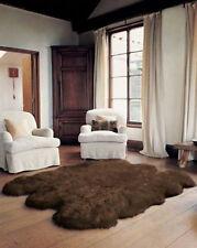 BROWN Genuine Real Large Sheepskin Rug, Sexto 6' x 6'