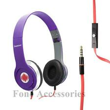 Deepbass headphones earphones for DVD MP4 MP3 iPod iPhone laptop tablet PURPLE