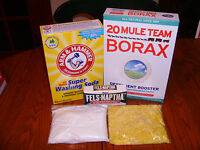 10 GALLON HOMEMADE LAUNDRY  DETERGENT  SOAP KIT ( 1 Gallon Recipe Included )