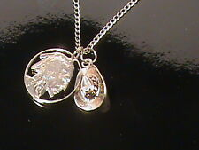 Cowboy and Indian necklace with a hand cut indian head nickel