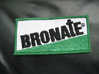 """BRONATE EMBROIDERED SEW ON PATCH BAYER HERBICIDE FARM UNIFORM COMPANY 4"""" x 2"""""""