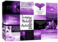Motivation Quotes -  Purple Canvas Wall Art  Picture 100% cotton - All sizes