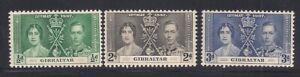 Gibraltar   1937   Sc #104-06   Coronation   MLH   OG   (5018-)