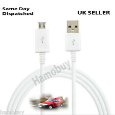 Micro USB Travel Battery Charger Data Sync Cable For Android Cell Phone , White