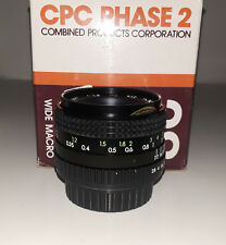 CPC Phase2 28mm/f2.8 Macro Lens for Yashica/Contax (BRAND NEW!)