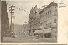 View on Main and Clinton Streets in Johnstown PA Postcard