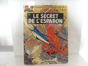 """BD - """" Le secret de l'espadon tome 2 """"  de E.P. Jacobs - EO 1977"""