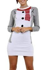 Be Jealous OVERSIZED Christmas Snowman Knitted Jumper Dress Size 12 BNWT Grey