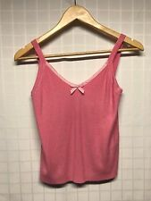 BCBG Max Azria / Girl's Tank Top / Cami / Pink w Ribbon Trim & Bow / XL