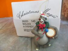 "GROLIER Chrismas Magic DISNEY "" BALOO "" Ornament with BOX"